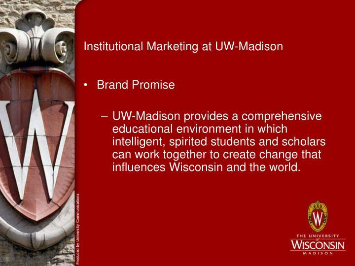 Institutional Marketing at UW-Madison