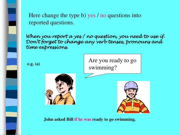 Here change the type b)
