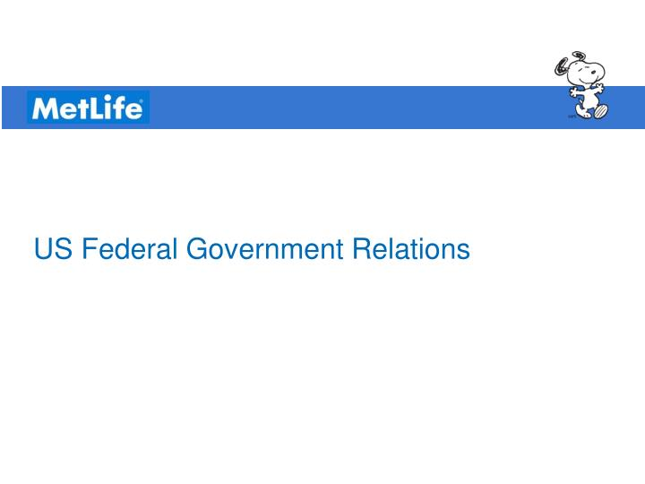 US Federal Government Relations