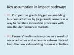 key assumption in impact pathways