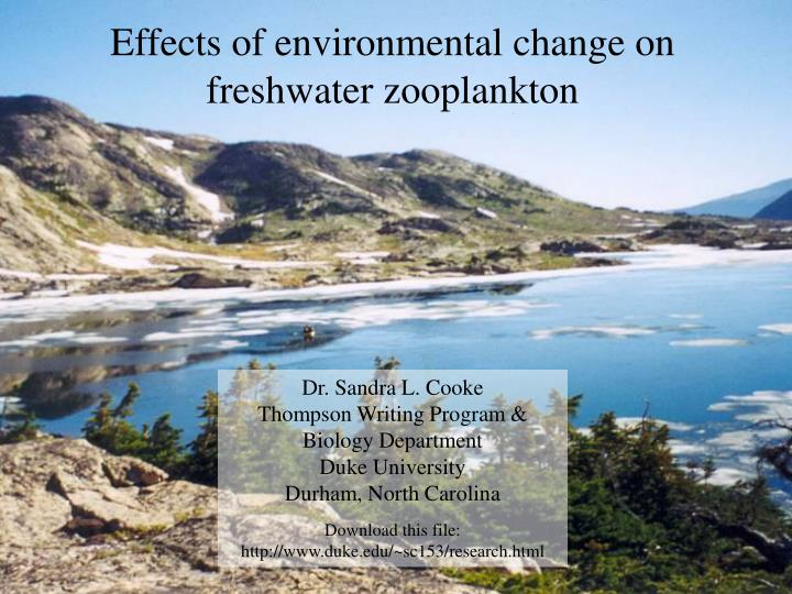 Effects of environmental change on freshwater zooplankton