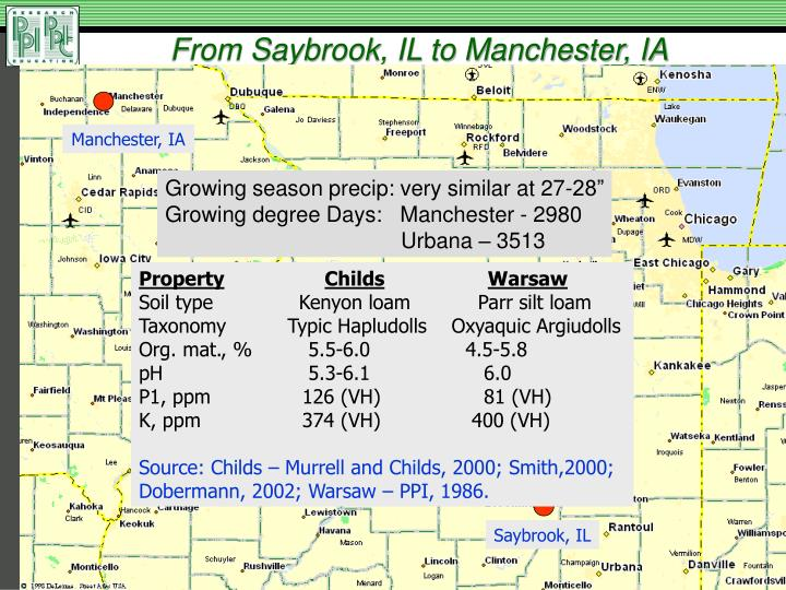 From Saybrook, IL to Manchester, IA