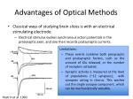 advantages of optical methods