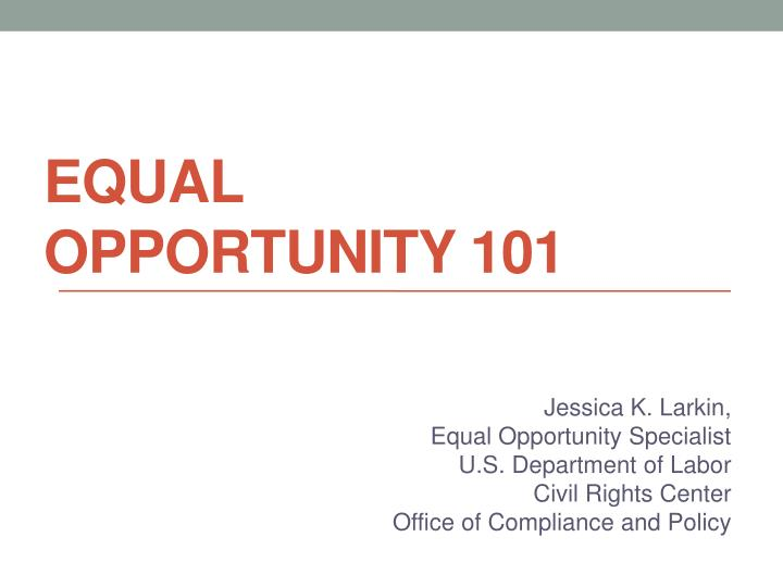equal opportunity 101 n.