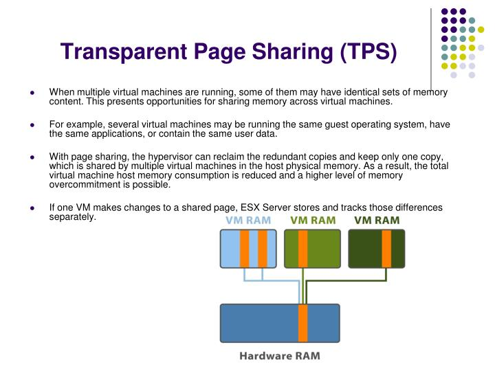 Transparent Page Sharing (TPS)