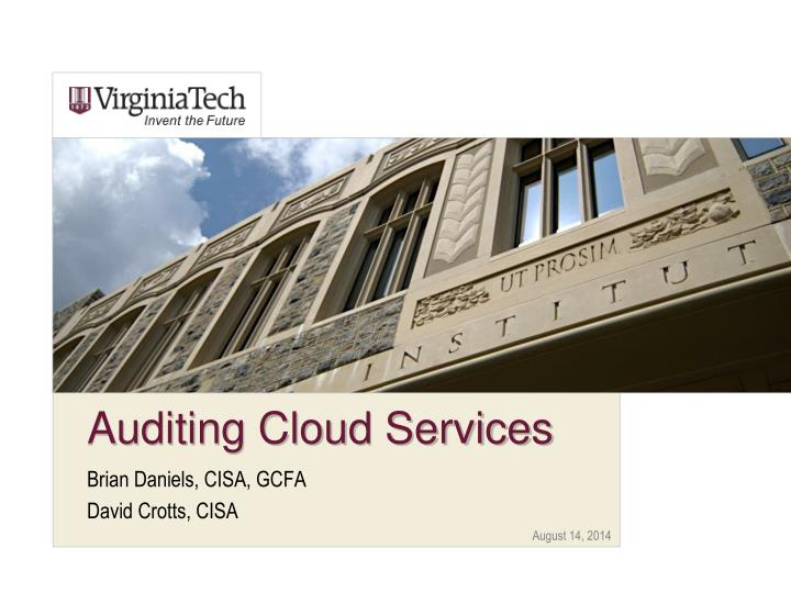 auditing cloud services n.