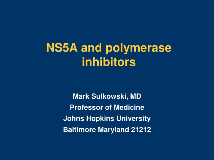 ns5a and polymerase inhibitors