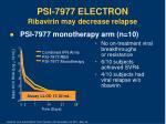 psi 7977 electron ribavirin may decrease relapse