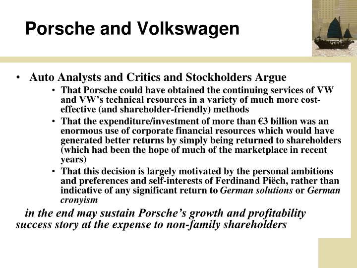 Porsche and Volkswagen