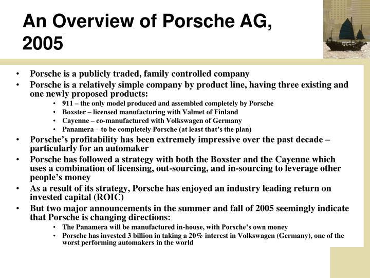 An Overview of Porsche AG, 2005
