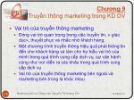 ch ng 9 truy n th ng marketing trong kd dv