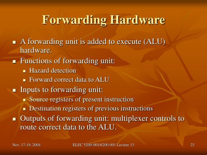 Forwarding Hardware