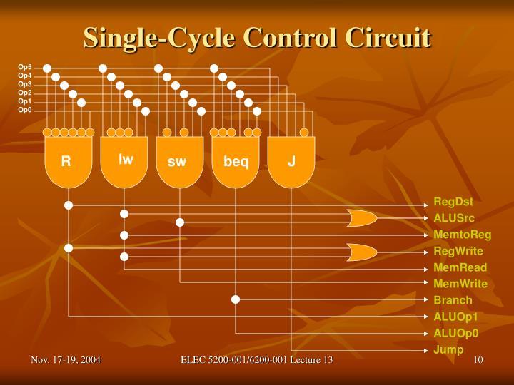 Single-Cycle Control Circuit