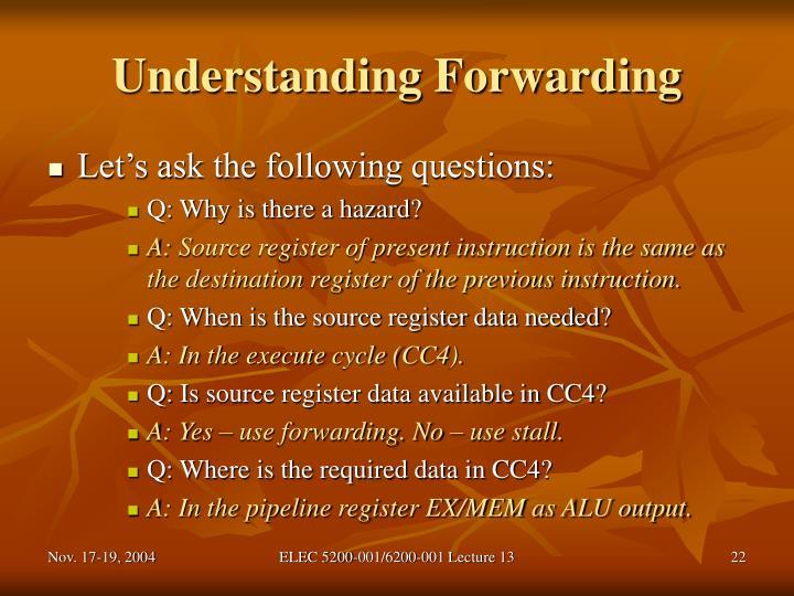 Understanding Forwarding