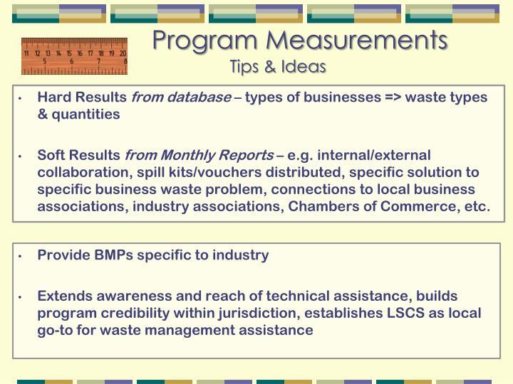Program Measurements