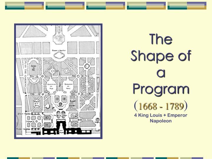 The Shape of a Program