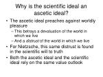 why is the scientific ideal an ascetic ideal1