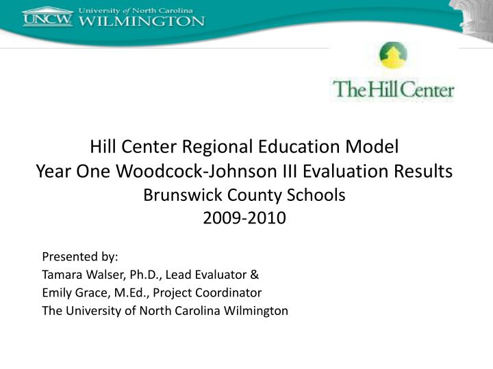 Hill Center Regional Education Model