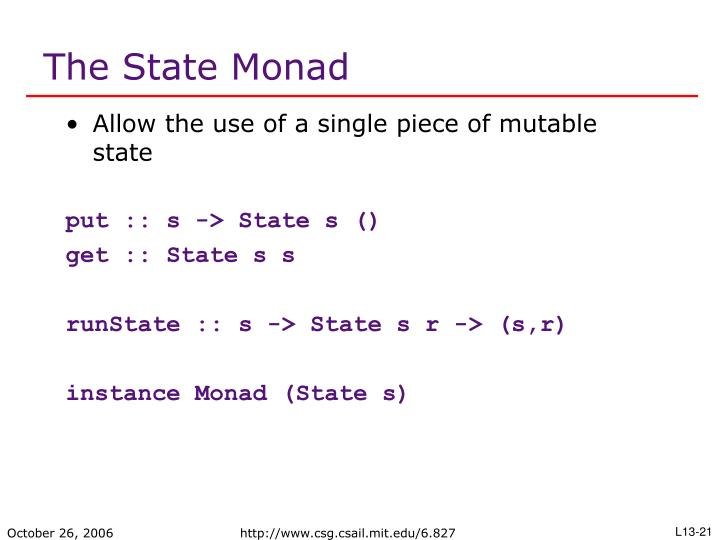 The State Monad