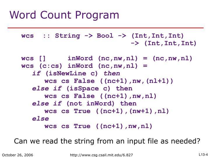 Word Count Program