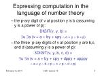 expressing computation in the language of number theory1