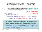 incompleteness theorem7