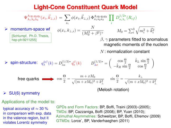 Light-Cone Constituent Quark Model