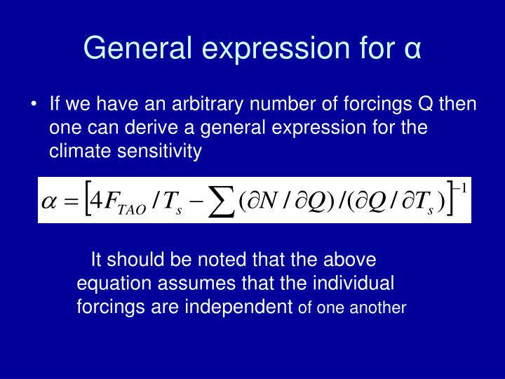 General expression for