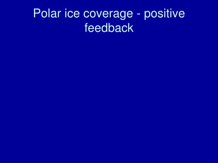 Polar ice coverage - positive feedback