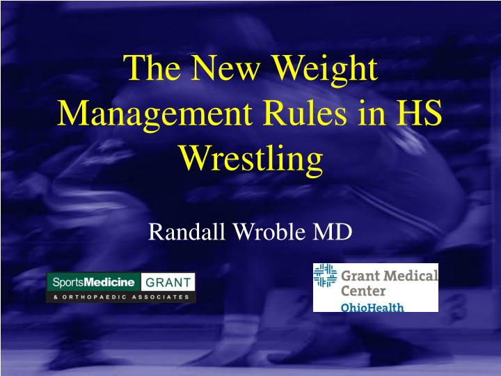 the new weight management rules in hs wrestling n.