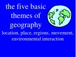 the five basic themes of geography
