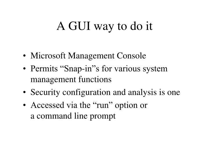 A GUI way to do it