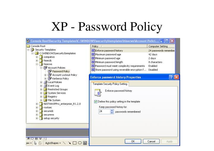 XP - Password Policy