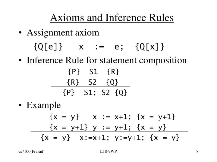 Axioms and Inference Rules