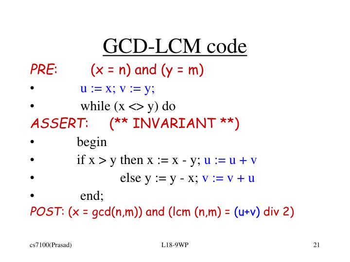 GCD-LCM code