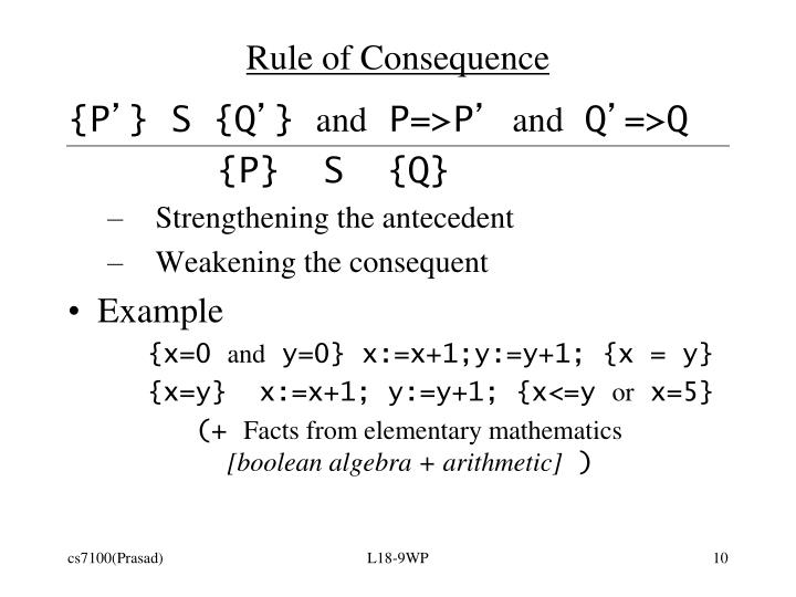 Rule of Consequence