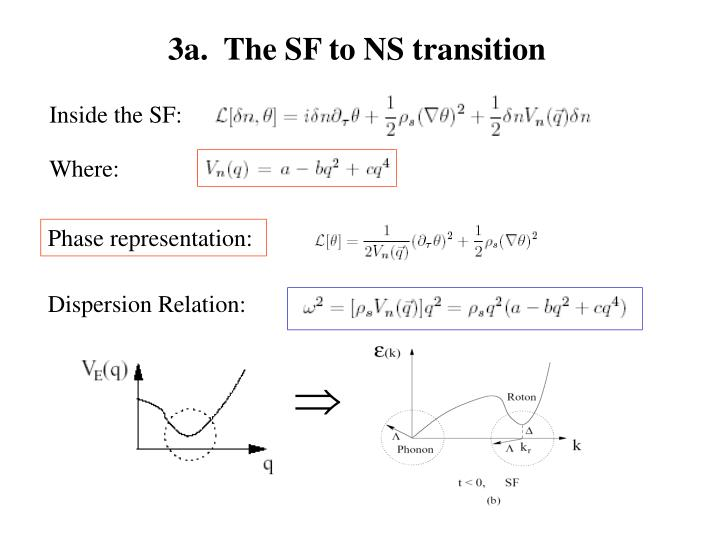 3a.  The SF to NS transition