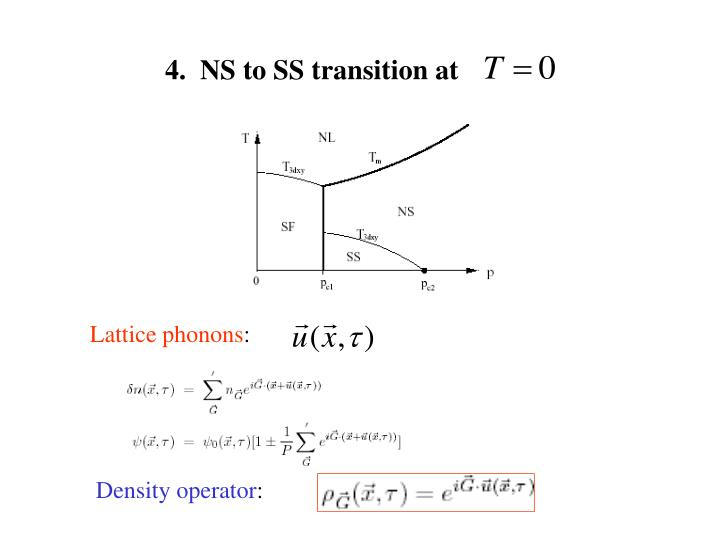 4.  NS to SS transition at