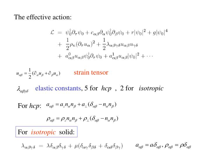 The effective action: