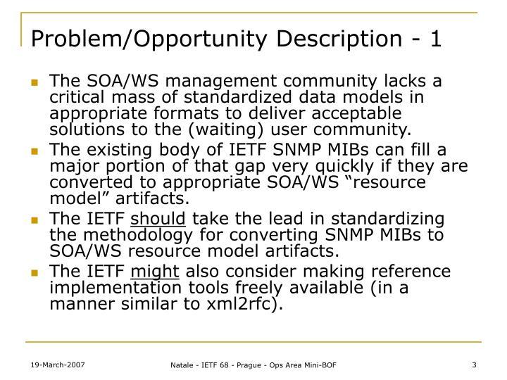 Problem opportunity description 1