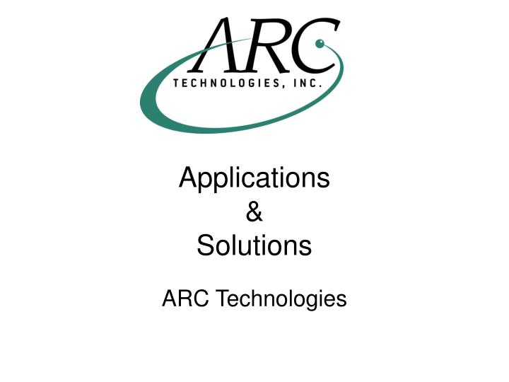 applications solutions n.