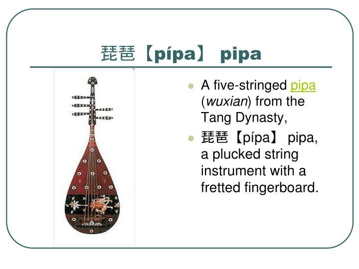 琵琶【pípa】 pipa