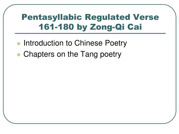 Pentasyllabic Regulated Verse