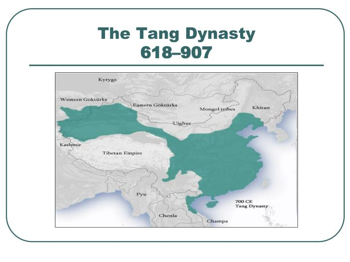 The tang dynasty 618 907