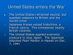 united states enters the war