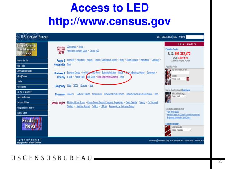 Access to LED