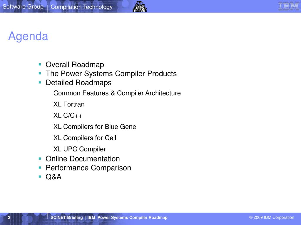 PPT - IBM Power Systems Compiler Roadmap PowerPoint