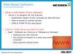 web based software terminology clarification