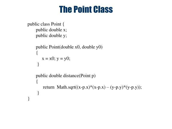 the point class n.