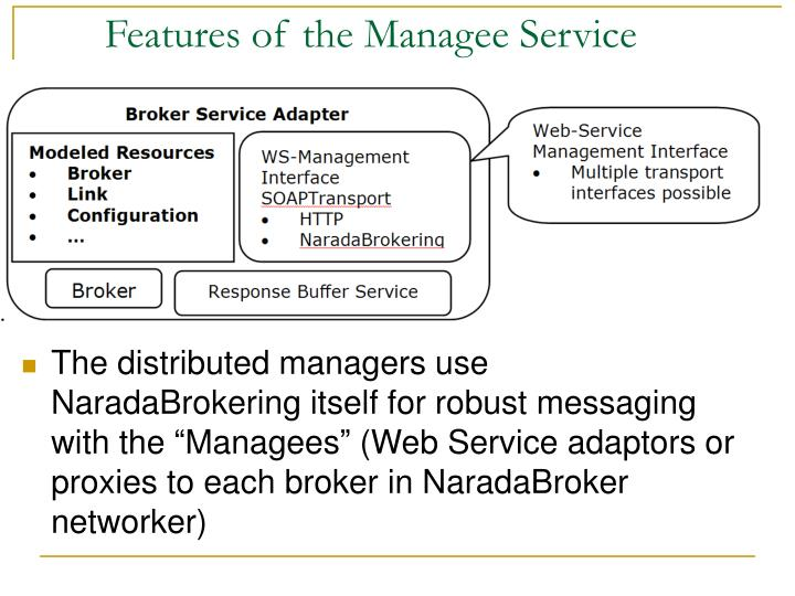 Features of the Managee Service